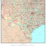 Texas Political Map   Texas Elevation Map By County