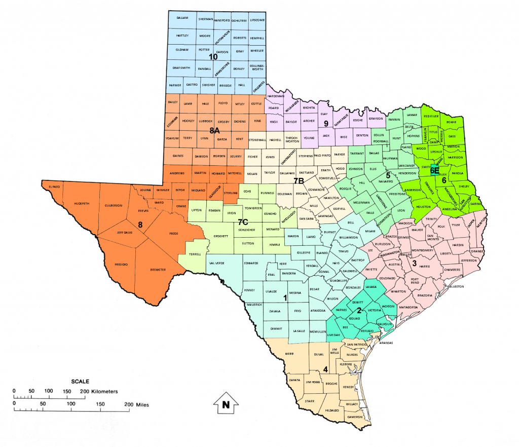 Texas Railroad Commission Districts, And Oil And Gas Map Of Texas | - Texas Rrc Gis Map