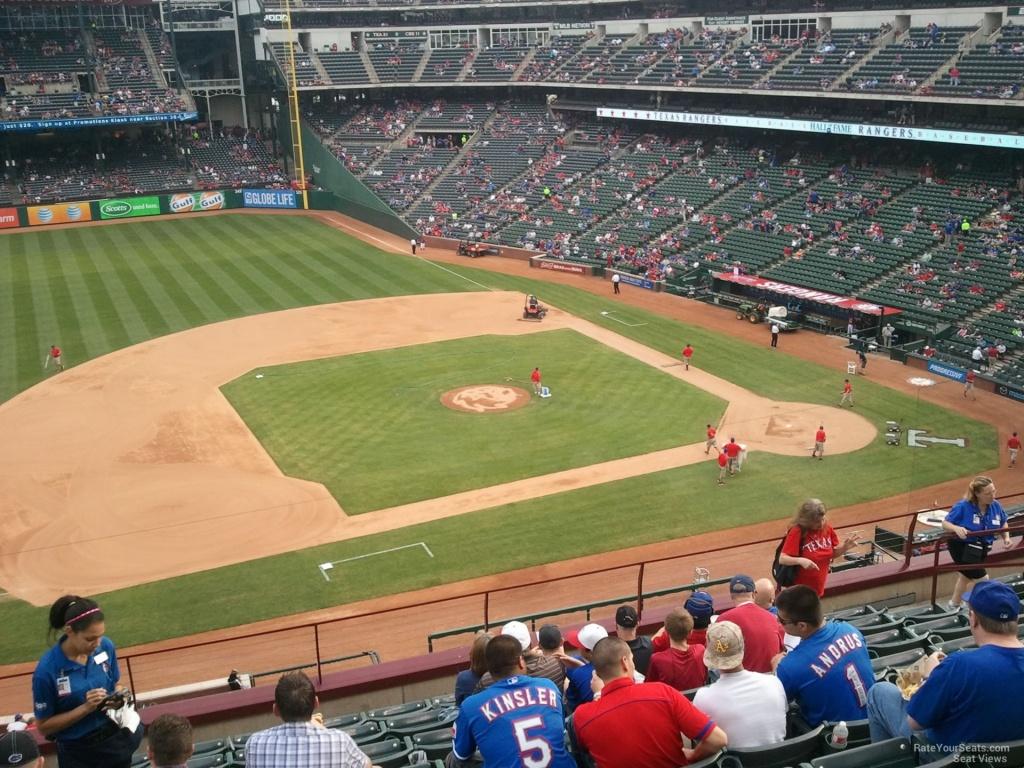 Texas Rangers Globe Life Park Seating Chart & Interactive Map - Texas Rangers Ballpark Seating Map