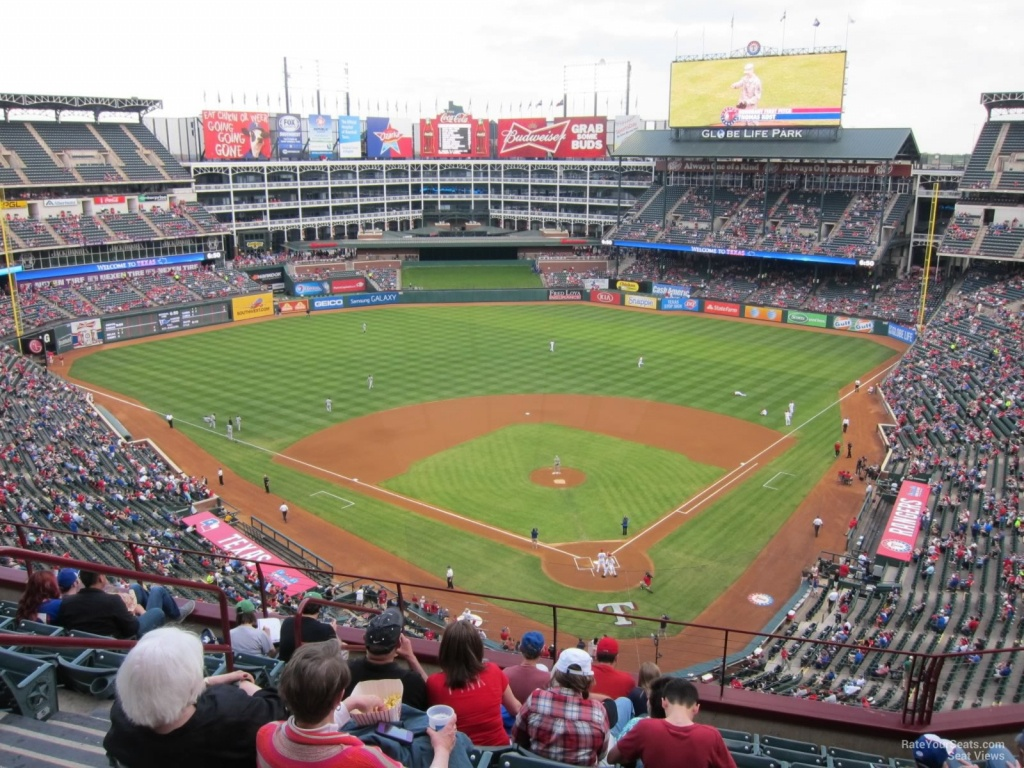 Texas Rangers Globe Life Park Seating Chart & Interactive Map - Texas Rangers Seat Map