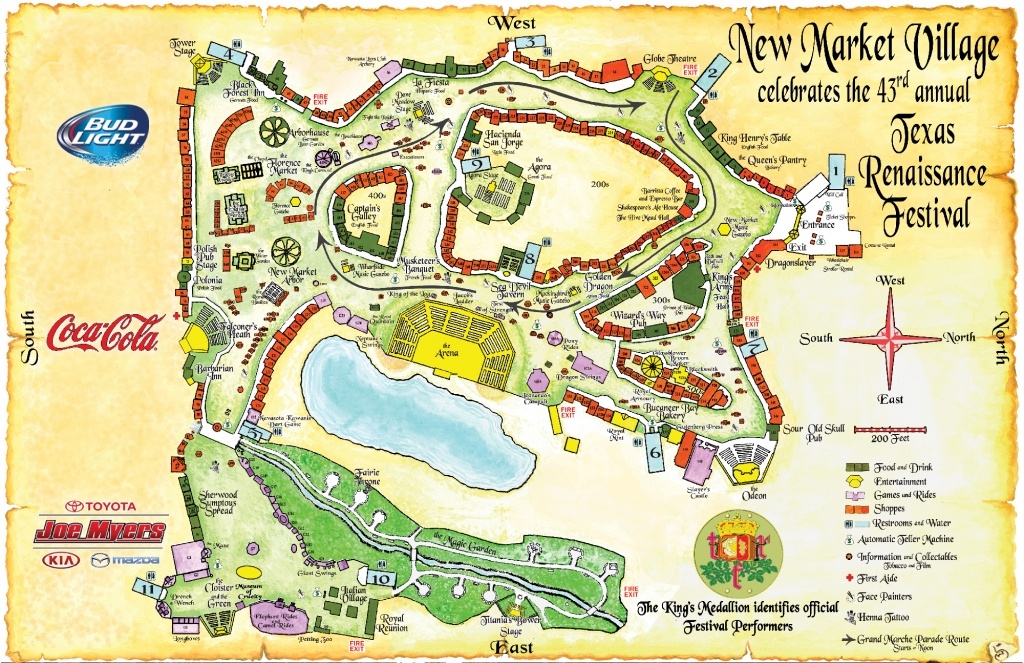 Texas Renaissance Festival Map | Map 2018 - Texas Renaissance Festival Map