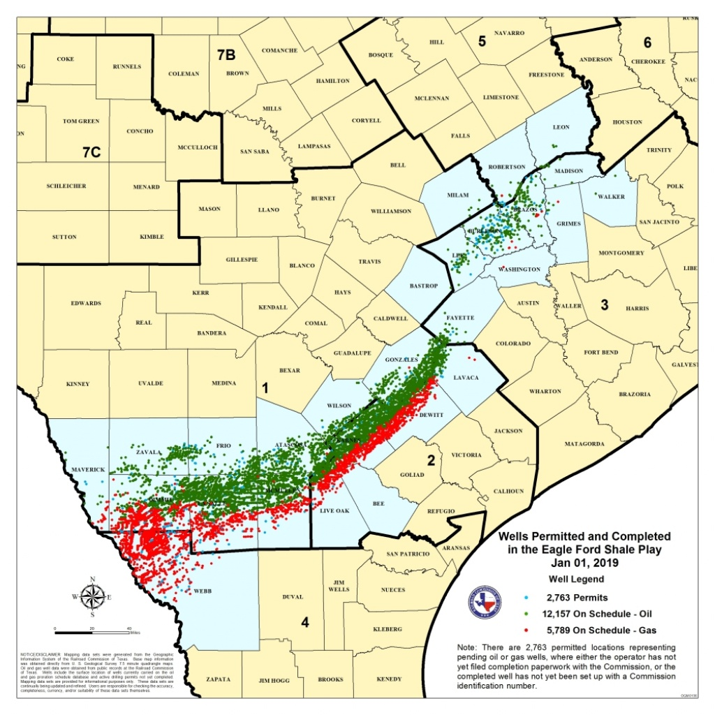Texas Rrc - Eagle Ford Shale Information - Texas Oil And Gas Lease Maps