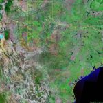 Texas Satellite Images   Landsat Color Image   Aerial Map Of Texas