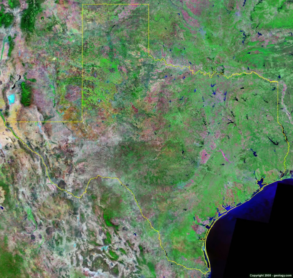 Texas Satellite Images - Landsat Color Image - Aerial Map Of Texas