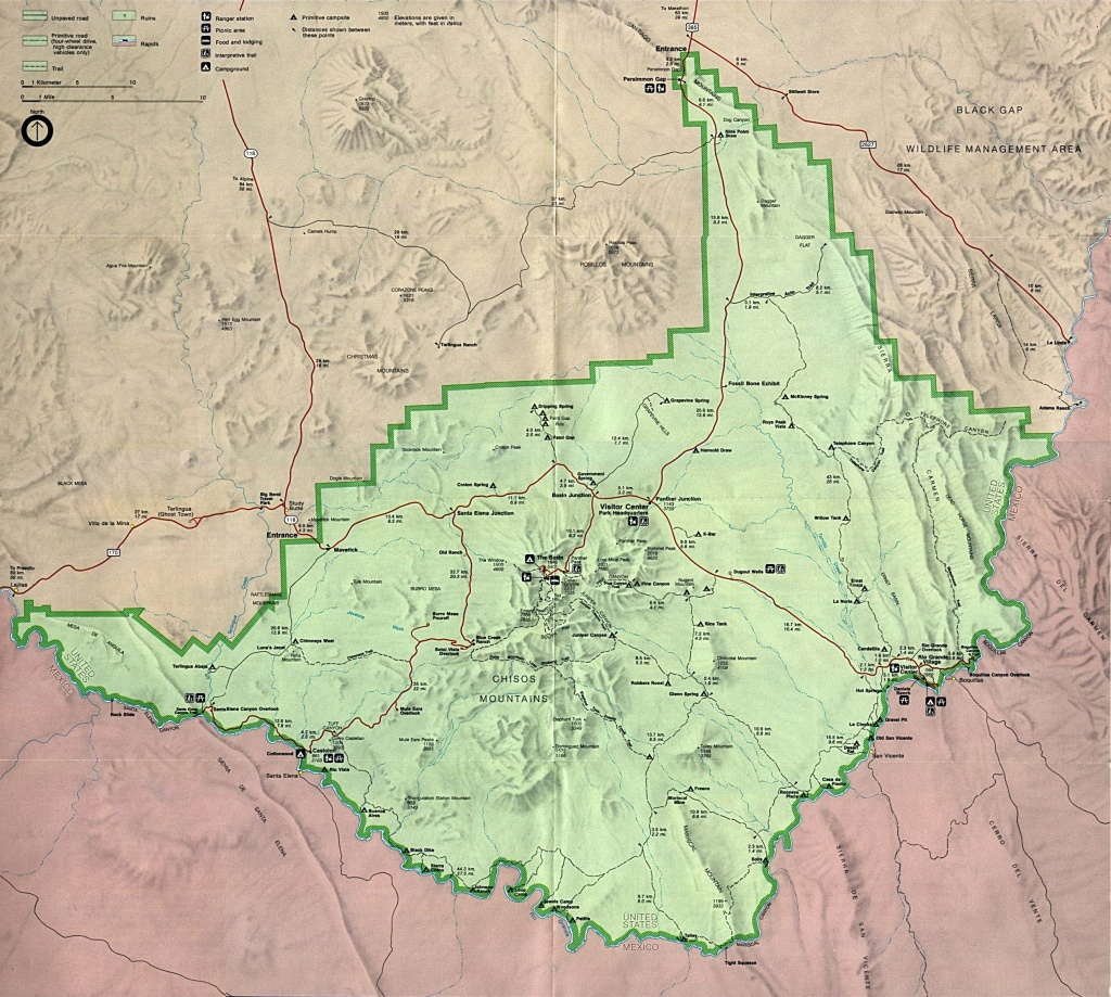 Texas State And National Park Maps - Perry-Castañeda Map Collection - Map Of Big Bend Area Texas
