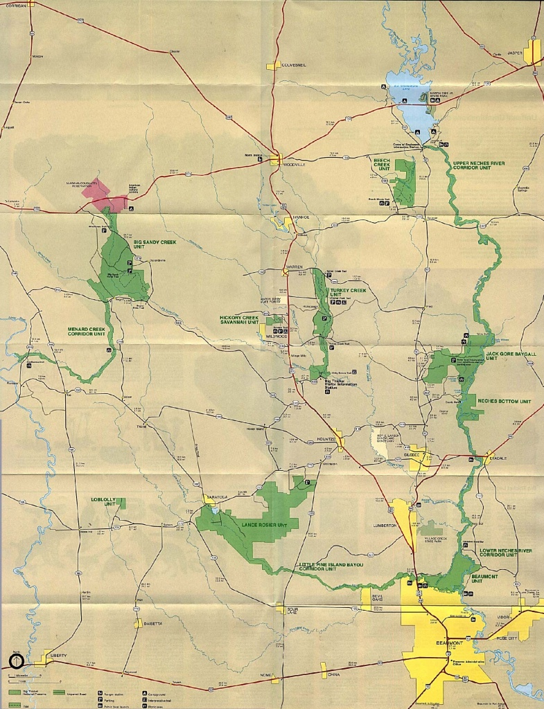 Texas State And National Park Maps - Perry-Castañeda Map Collection - Texas Parks And Wildlife Map