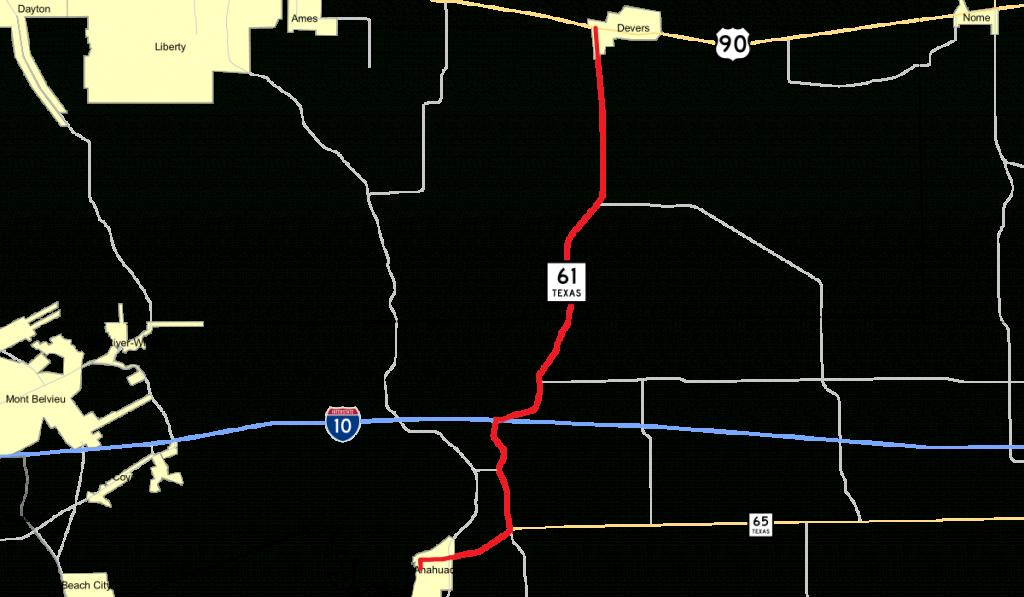 Texas State Highway 61 - Wikipedia - Winnie Texas Map
