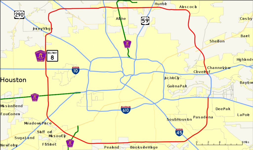 Texas State Highway Beltway 8 - Wikipedia - Map Records Of Harris County Texas