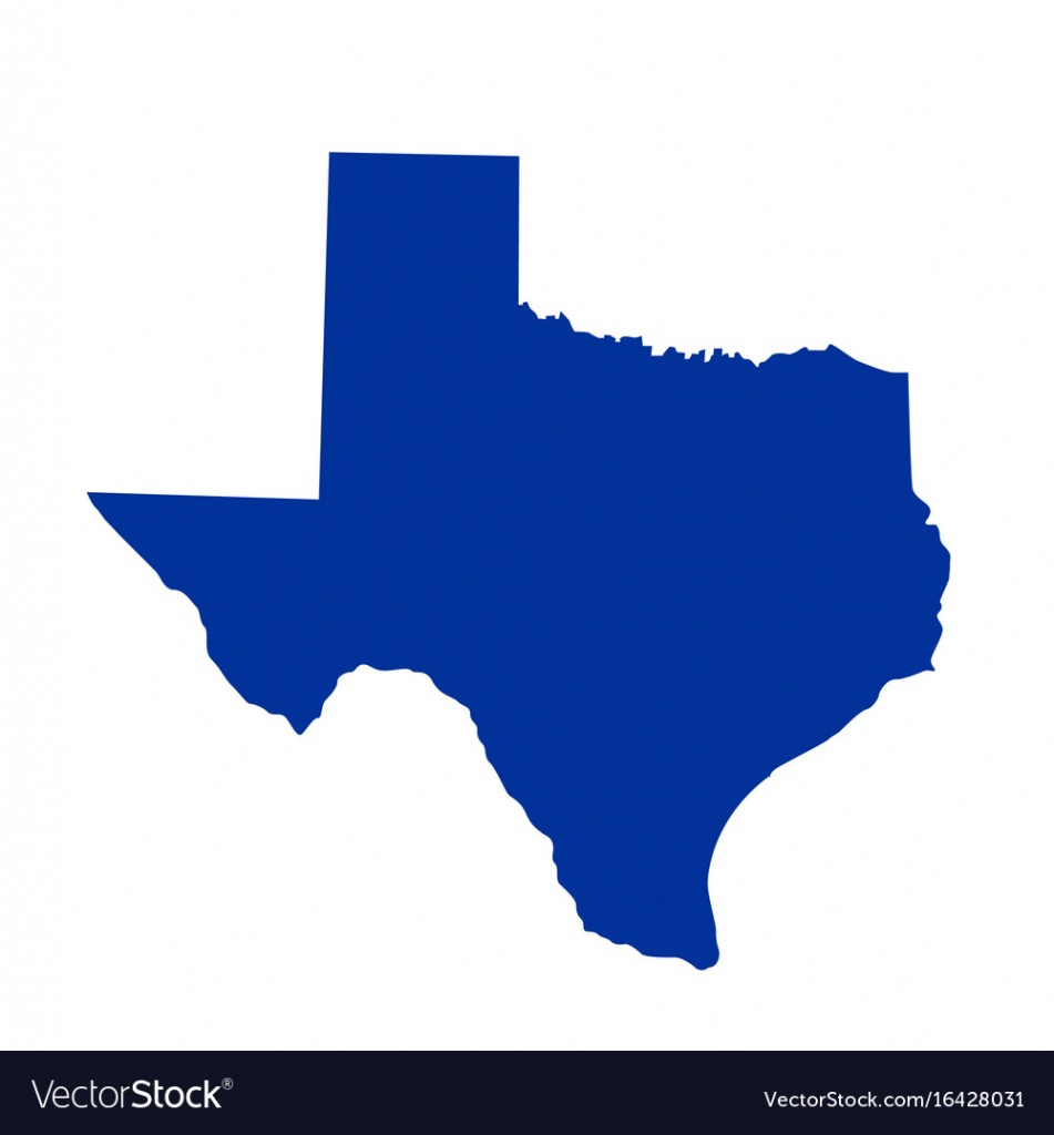Texas State Map Royalty Free Vector Image - Vectorstock - Free Texas State Map
