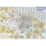 Texas State Wall Map   Texas Wall Map