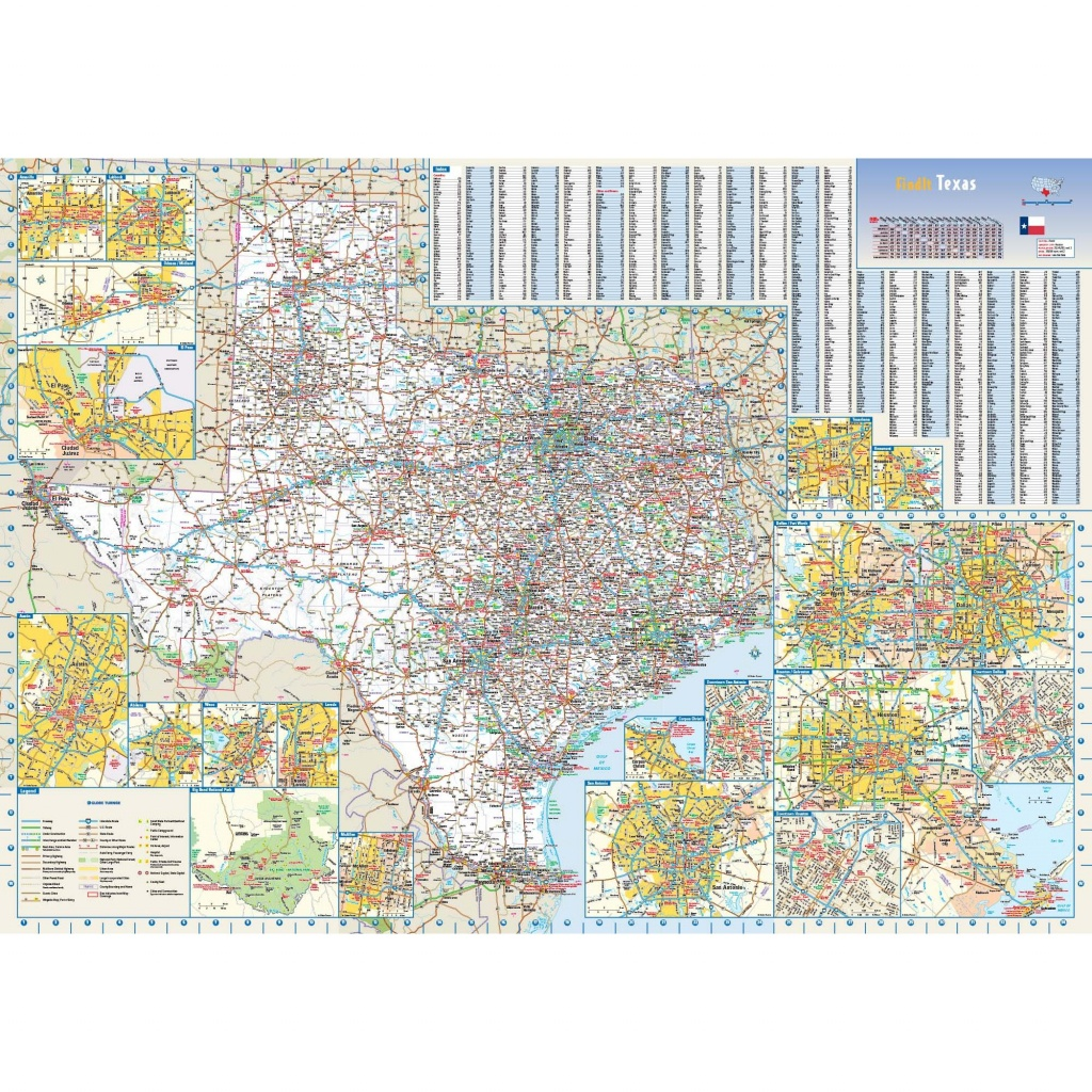 Texas State Wall Map - Texas Wall Map