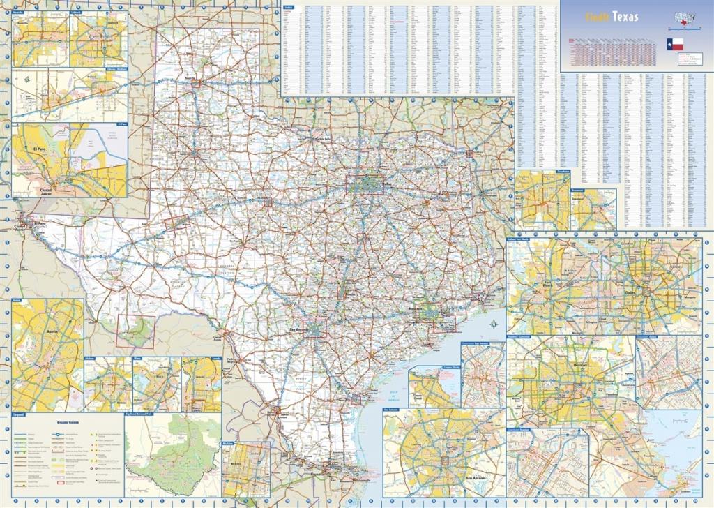Texas State Wall Mapglobe Turner 35 X 25 - Texas Wall Map