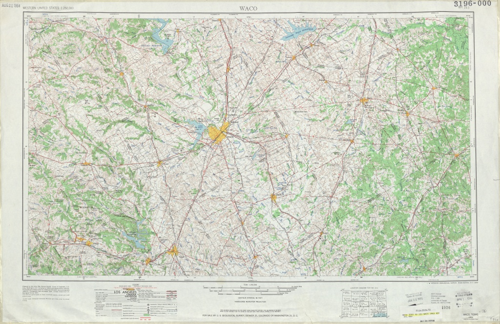 Texas Topographic Maps - Perry-Castañeda Map Collection - Ut Library - Map Of Waco Texas And Surrounding Area