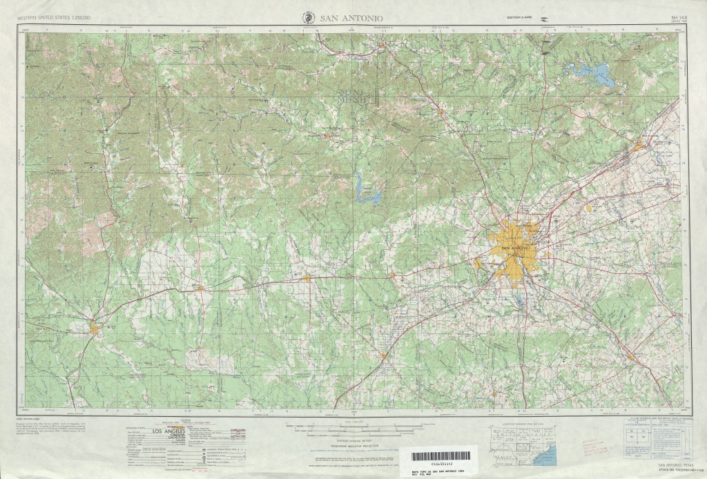 Texas Topographic Maps - Perry-Castañeda Map Collection - Ut Library - Selma Texas Map