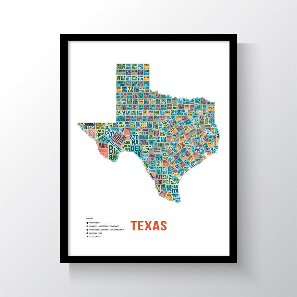 Texas Typography Printmappinners | Etsy - Texas Scratch Off Map