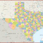 Texas Wall Map   Political   Texas Wall Map