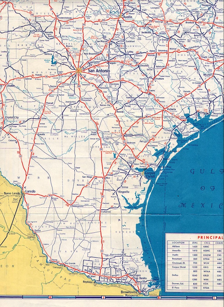 Texasfreeway > Statewide > Historic Information > Old Road Maps - Map Of South Texas