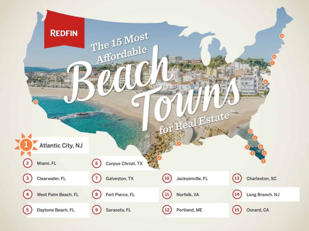 The 15 Most Affordable Beach Towns To Buy A Vacation Home - Redfin - Map Of Florida East Coast Beach Towns
