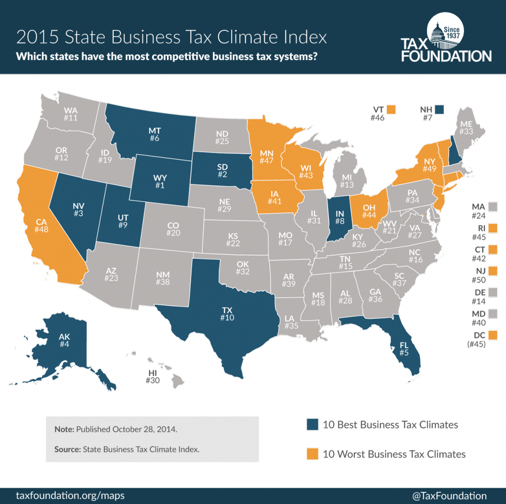 The 2015 State Business Tax Climate Index - Tax Foundation Of Hawaii - Texas Sales Tax Map