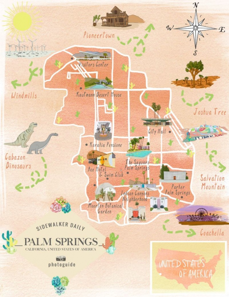 The 37 Best Places To Take Pictures In Palm Springs | Palm Springs - Map Of California Showing Palm Springs