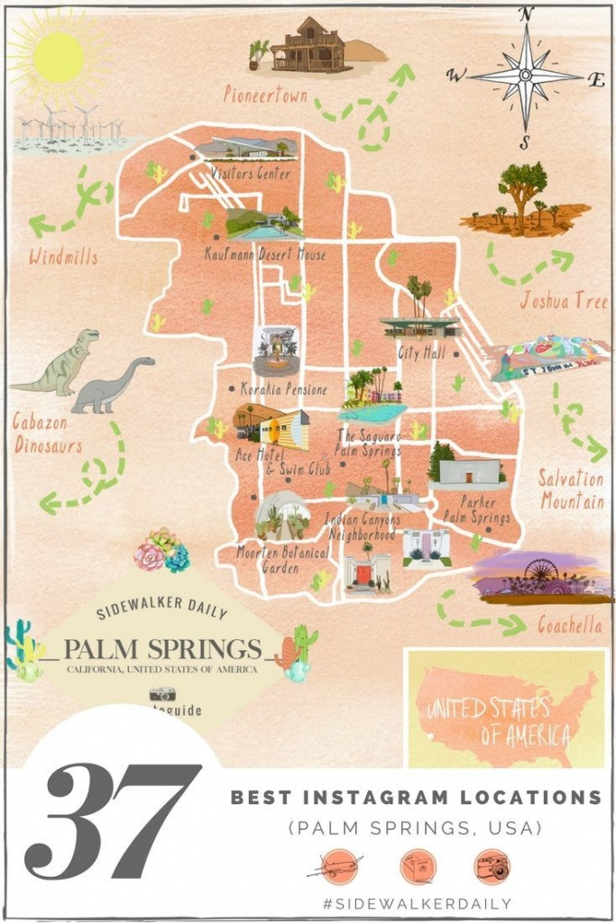 The 37 Best Places To Take Pictures In Palm Springs | Sidewalker - Where Is Palm Desert California Map