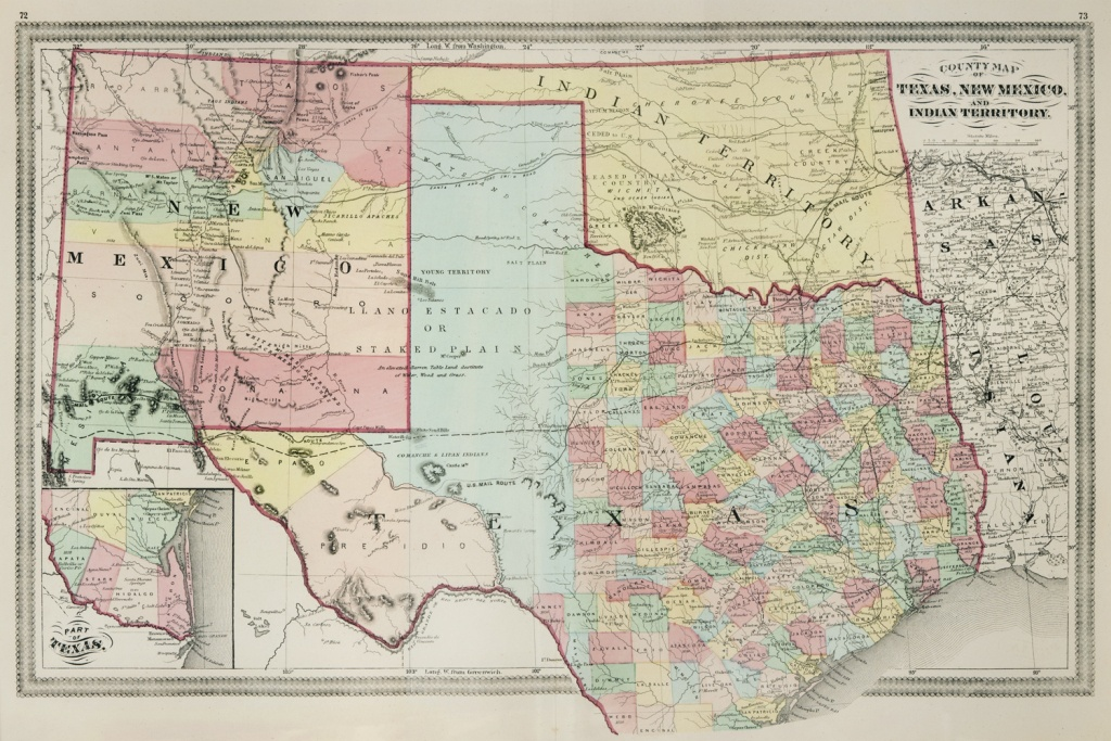 The Antiquarium - Antique Print & Map Gallery - Lloyd - Texas, New - Map Of New Mexico And Texas