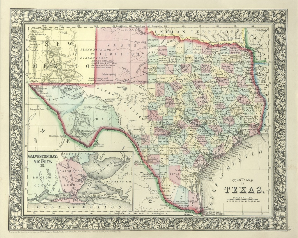 The Antiquarium - Antique Print & Map Gallery - Texas Maps - Texas Maps For Sale