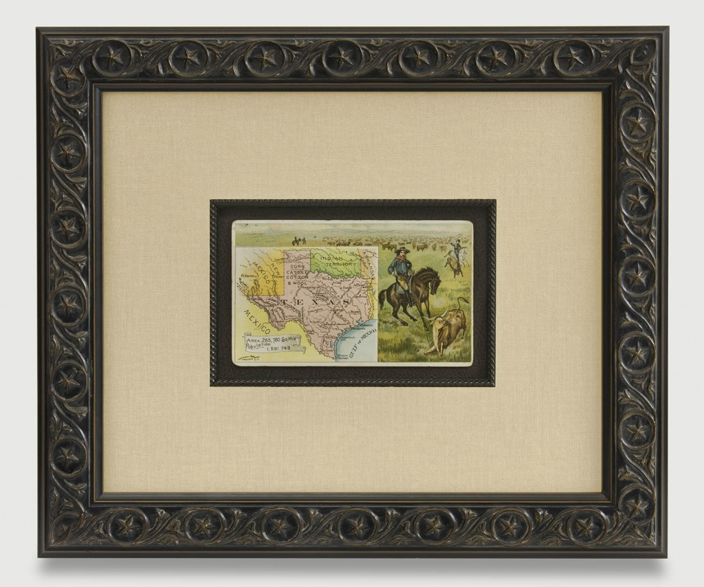 The Antiquarium - Antique Print & Map Gallery - Texas Maps - Vintage Texas Map Framed