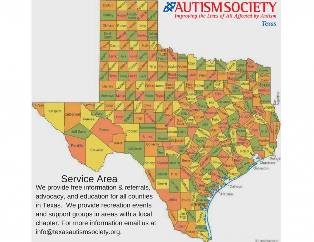 The Autism Society Of Texas – Autism Society Of Texas - Free Texas State Map