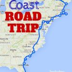 The Best Ever East Coast Road Trip Itinerary | Usa Travel Tips   Florida Road Trip Trip Planner Map