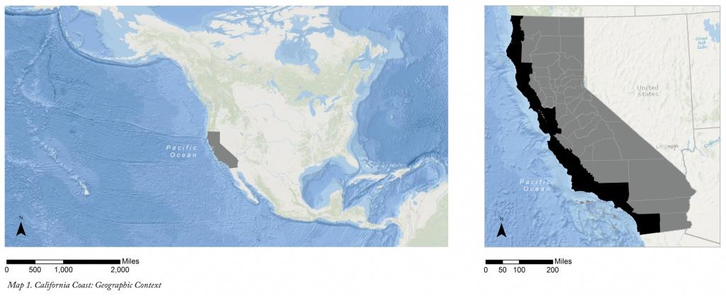 The California Coast: Resilience And Adaptation Planning For Sea - California Sea Level Map