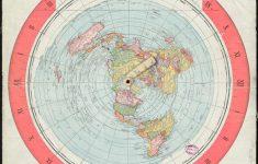 Flat Map Of World Printable