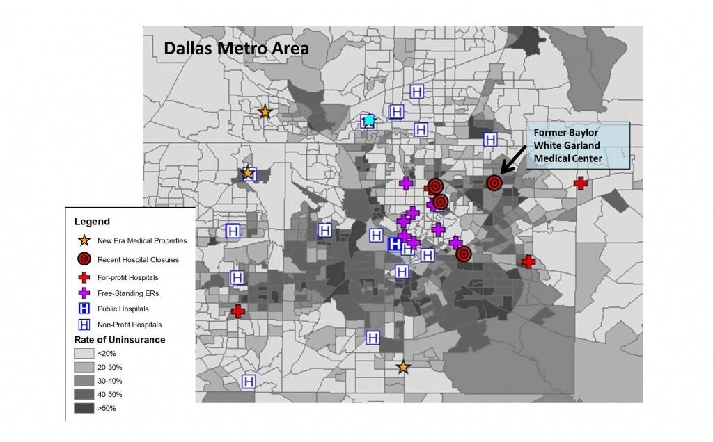 The Gentrification Of American Healthcare - Baylor Hospital Dallas Texas Map