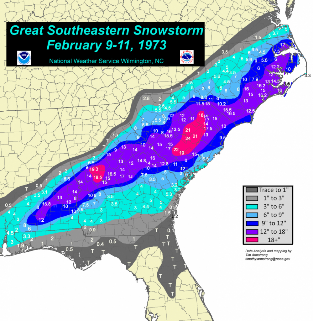 The Great Southeastern Snowstorm: February 9-11, 1973 - South Florida Radar Map