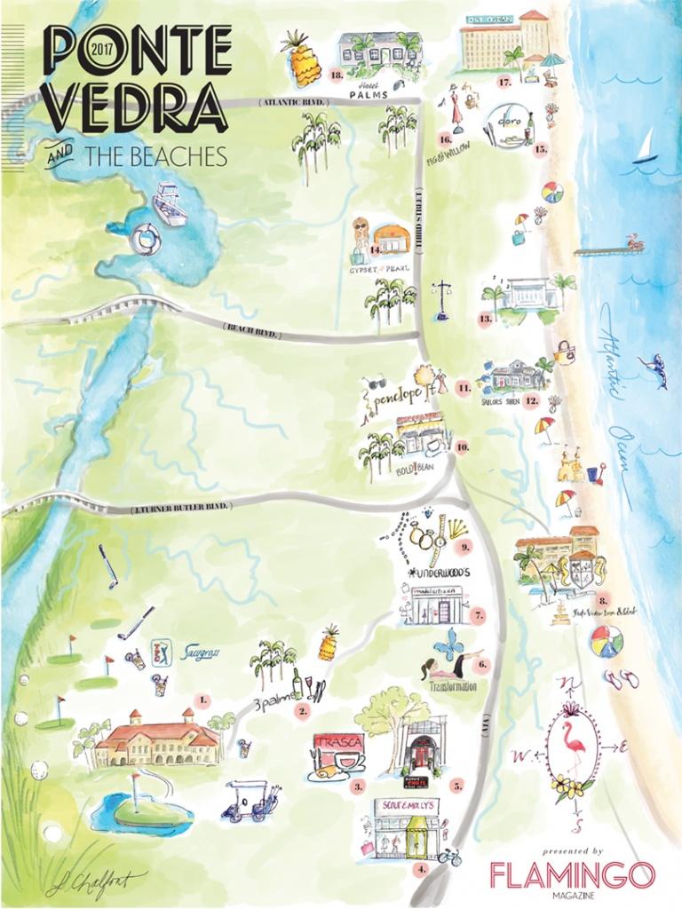 The Local's Guide To Ponte Vedra & The Beaches | Flamingo Magazine - Ponte Vedra Florida Map