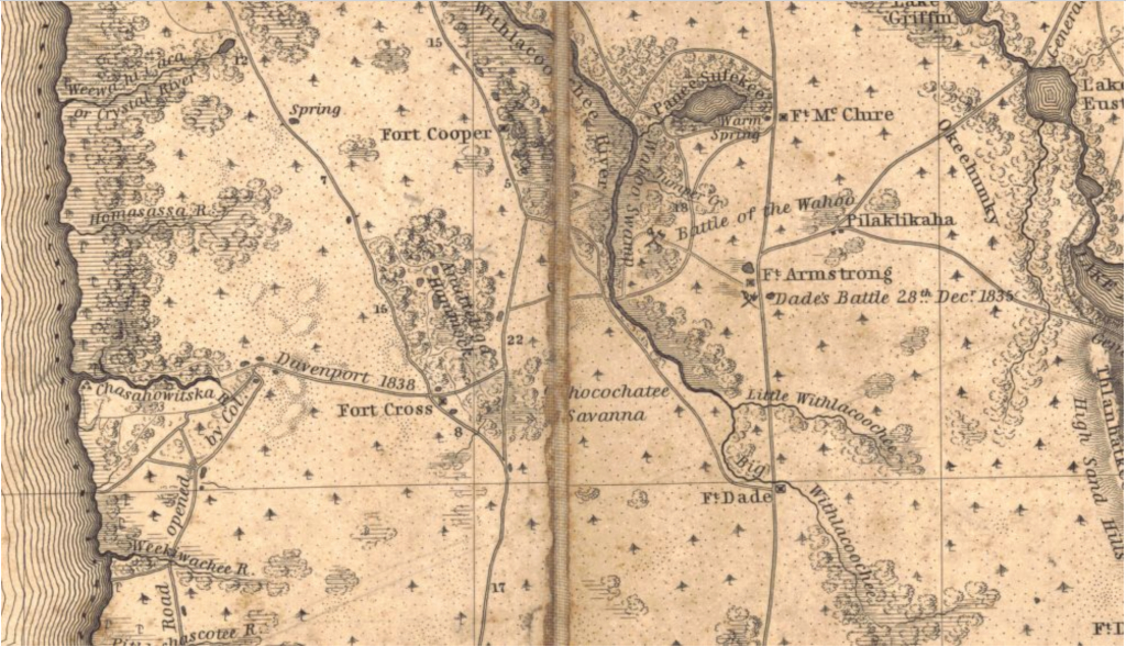 The Lost Forts Of Hernando County | Hernando Sun - Map Of Hernando County Florida
