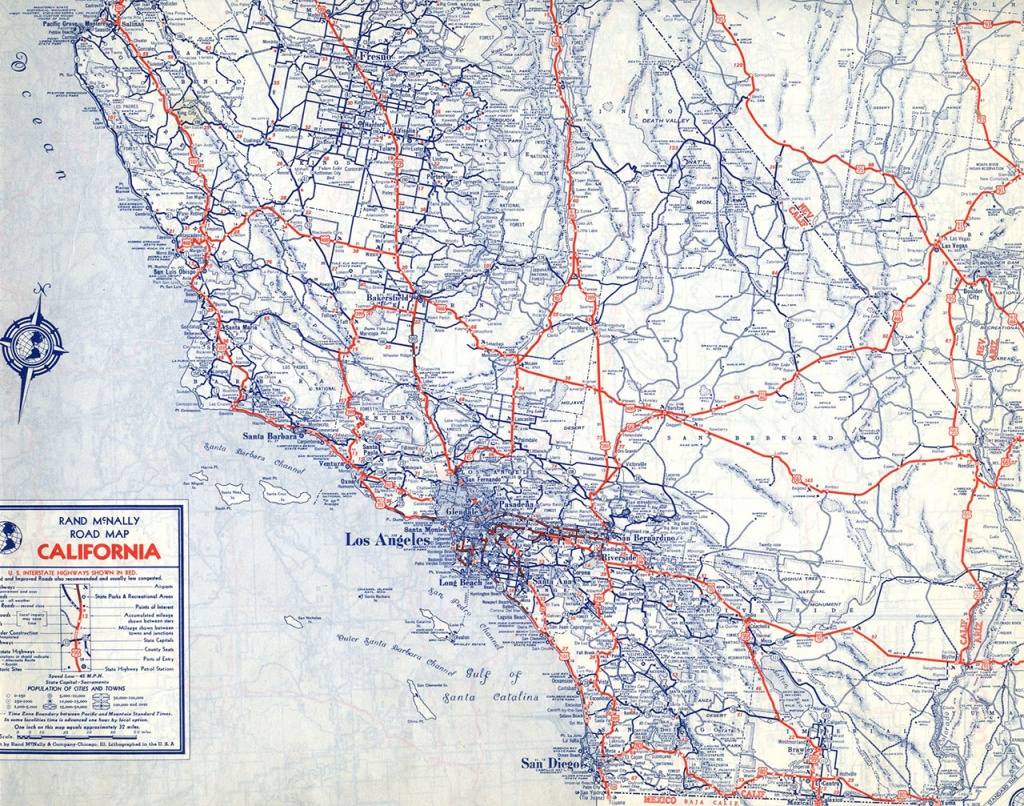 The Lost U.s. Highways Of Southern California History   Kcet - Central California Road Map