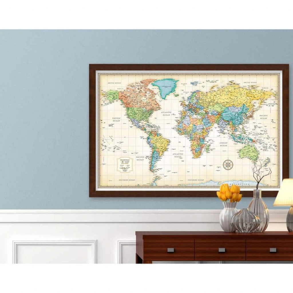 The Map Shop - Wall Maps, Travel Maps, Guide Books, Globes, Flags - Florida Wall Maps For Sale