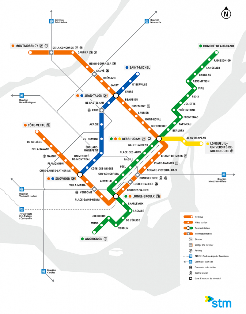 The Montreal Metro Map - News Construction And Development Pose - Montreal Metro Map Printable