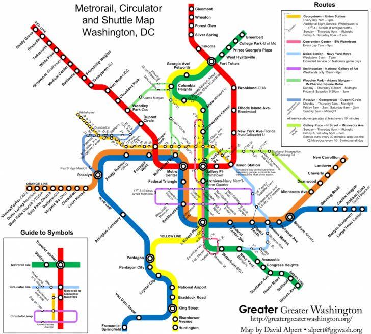 Printable Dc Metro Map