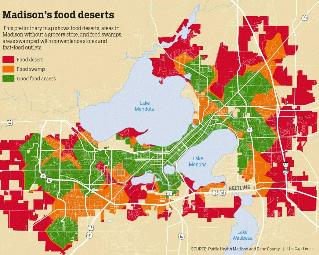 The Reality Of Food Deserts In Madison | Health Writers On The Air - Food Desert Map California