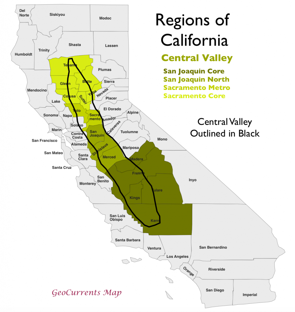 The Regionalization Of California, Part 2 - California Valley Map