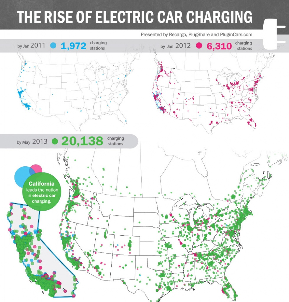 The Rise Of Electric Car Charging Stations | Solar Energy Usa Blog - Charging Station Map California