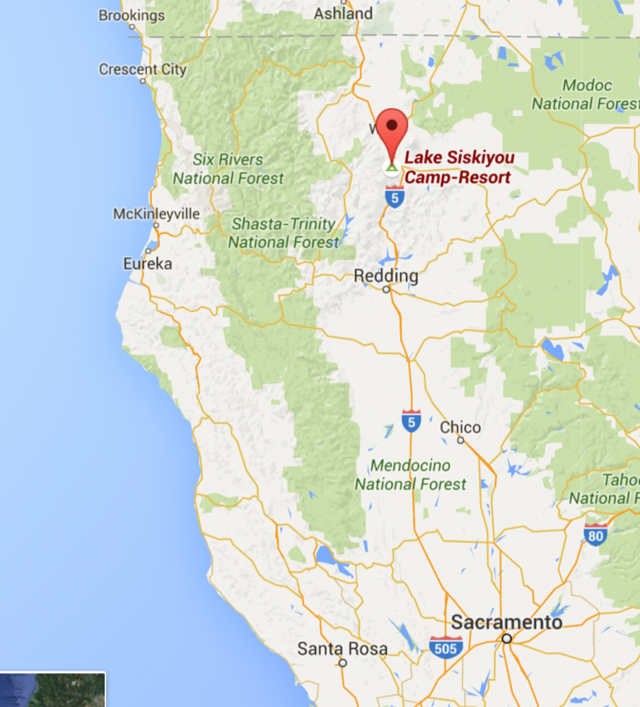 The Route To Lake Siskiyou Camp Resort California | Let's Go - Map Of Northern California Campgrounds