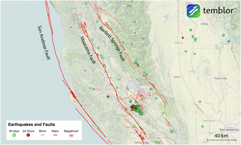 The San Andreas' Sister Faults In Northern California | Temblor - California Fault Lines Map