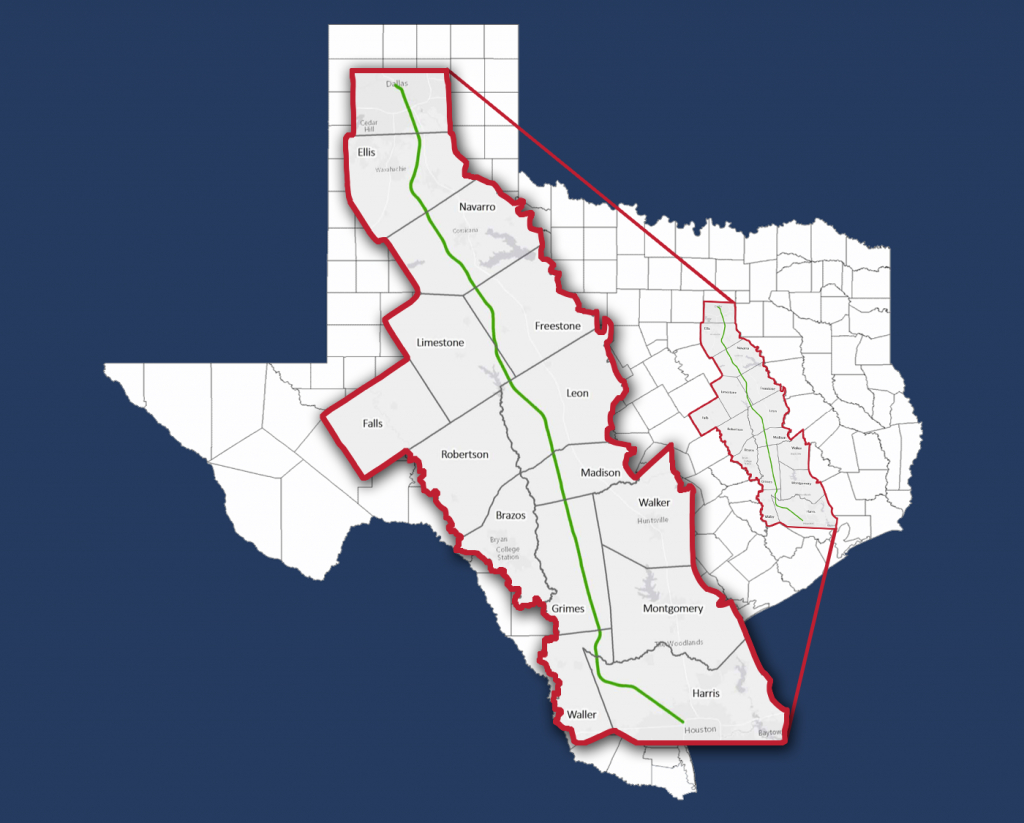 The Texas High-Speed Train — Alignment Maps - Texas High Speed Rail Map