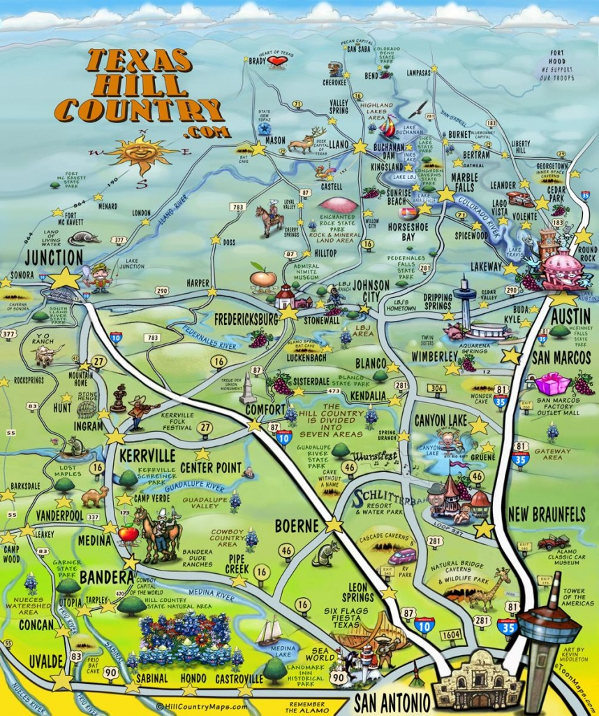 The Texas Hill Country Map - Texas Hill Country Map