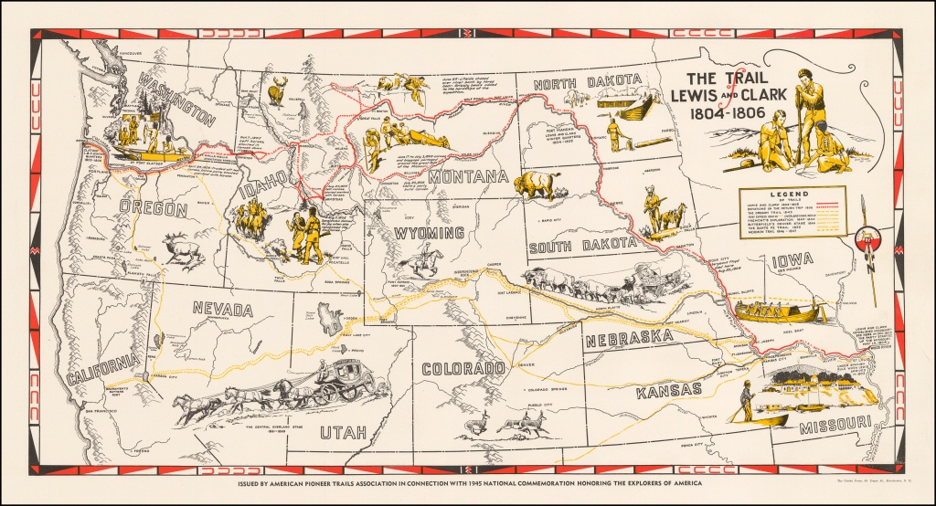 The Trail Of Lewis And Clark 1804 - 1806 - Barry Lawrence Ruderman - Lewis And Clark Trail Map Printable