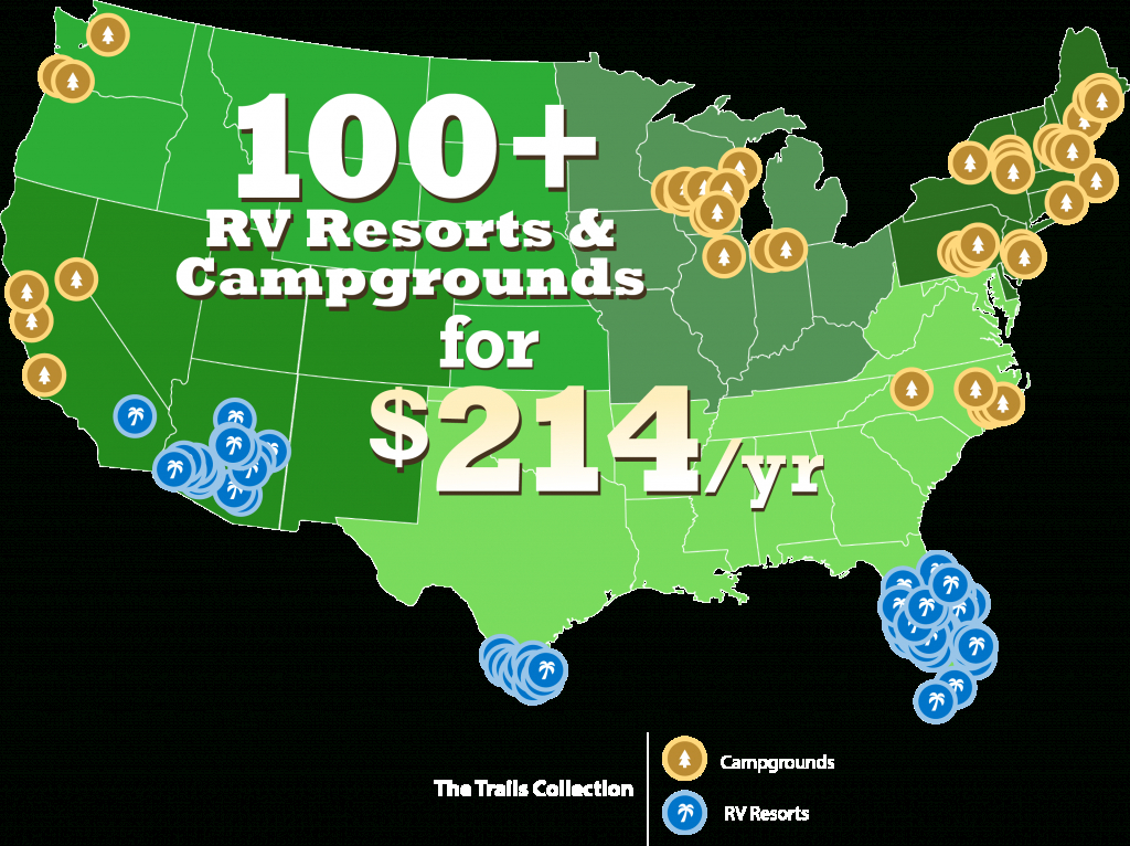 The Trails Collection - Thousand Trails Florida Map