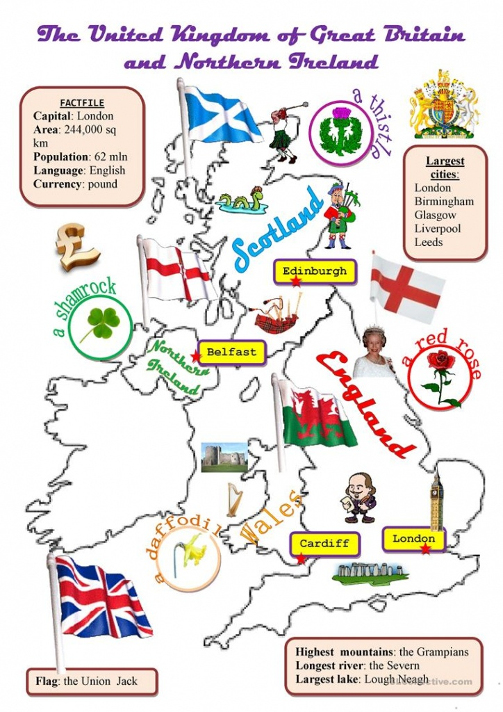The Uk:map Worksheet - Free Esl Printable Worksheets Madeteachers - Free Printable Map Worksheets